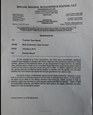 Memorandum from town attorney